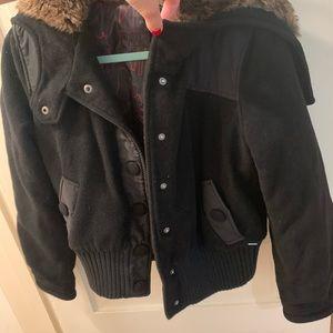 Oakley Fur Wool Moto Jacket Bomber